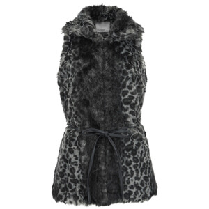 Vero Moda Women's Seal Fake Fur Waistcoat - Asphalt