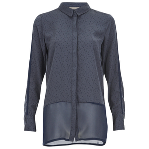 Vero Moda Women's Lotus Long Sleeve Long Shirt - Ombre Blue