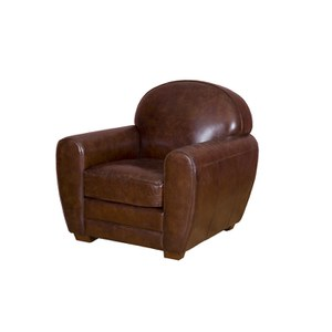 Vintage Aviator Round Back Leather Chair