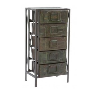 5 Drawer Army Metal Chest