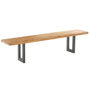 Reclaimed Teak and Wood Rectangular Dining Table