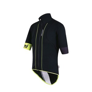 Santini Reef Water+Wind Resistant Jersey - Black/Yellow
