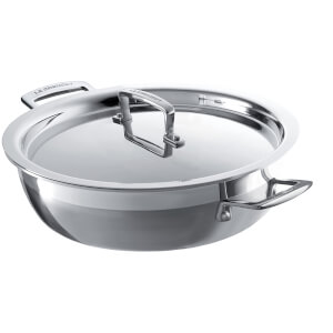 Le Creuset 3-Ply Stainless Steel Shallow Casserole Dish - 24cm