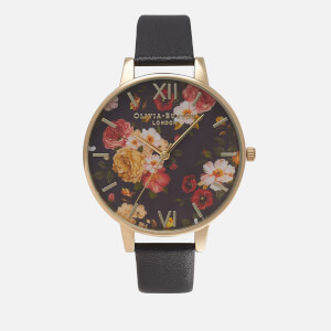 Olivia Burton Women's Winter Garden Watch - Black/Gold