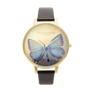 Olivia Burton Women's Woodland Butterfly - Chocolate