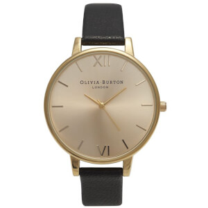 Olivia Burton Women's Big Dial Watch - Black/Gold