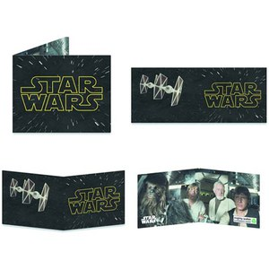 Star Wars Logo Contemplating Mighty Wallet
