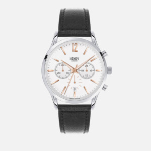 Henry London Large Highgate Watch - Black/Silver