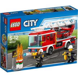 LEGO City: Feuerwehrfahrzeug mit fahrbarer Leiter (60107)