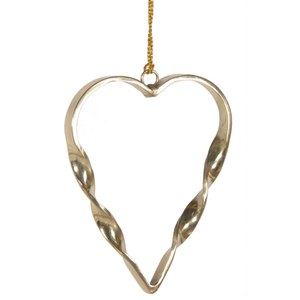 Bark & Blossom Metallic Gold Twisted Hanging Heart