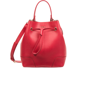 Furla Women's Stacy Drawstring Bucket Bag - Red