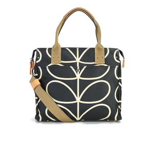 Orla Kiely Women's Stem Zip Messenger Bag - Black
