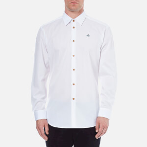 Vivienne Westwood MAN Men's Stretch Poplin Classic Cut Away Shirt - White