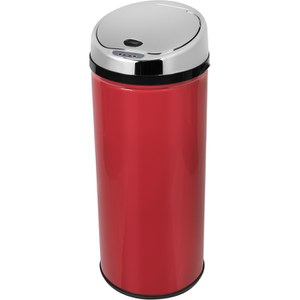 Morphy Richards 971511/MO Round Sensor Bin - Red - 42L