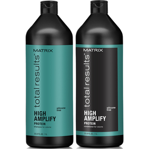 Shampoo (1000 ml), Condicionador (1000 ml) e Volumizador de Raízes (250 ml) High Amplify da Matrix Total Results