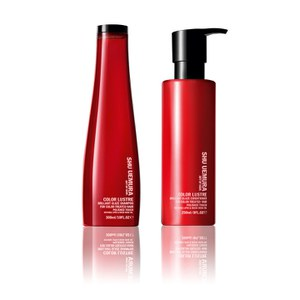 Champô Art of Hair Color Lustre da Shu Uemura, livre de sulfato (300ml) e Condicionador (250ml)