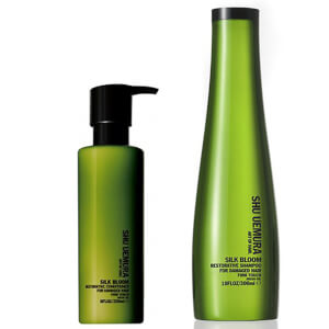 Shu Uemura Art of Hair Silk Bloom -shampoo (300ml) ja -hoitoaine (250ml)