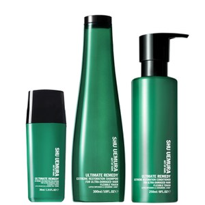 Shu Uemura Art of Hair Ultimate Remedy Shampoo (300 ml), Conditioner (250 ml) og Serum (30 ml)