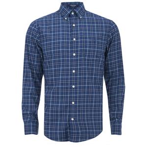 GANT Men's Tiebreak Twill Check Shirt - Marine
