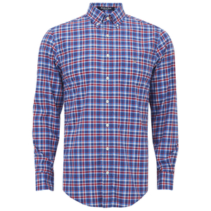 GANT Men's Matchpoint Poplin Check Shirt - Hurricane Blue