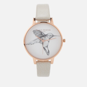 Olivia Burton Women's Animal Motif Hummingbird Watch - Mink/Rose Gold