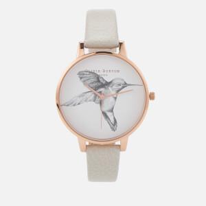 Olivia Burton Women's Animal Motif Hummingbird Watch - Mink/Rose Gold