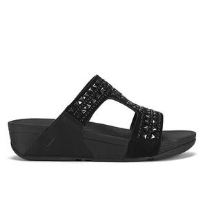 FitFlop Women's Carmel Slide Suede Sandals - All Black