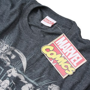 Marvel Men's Band of Heroes T-Shirt - Dark Heather: Image 3