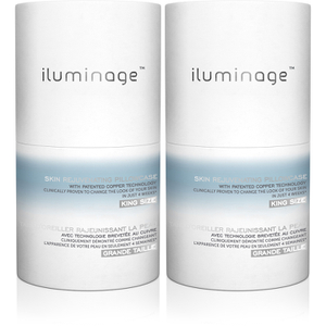 Iluminage Pillowcase - King Size (Twin Pack) (Worth £100.00)