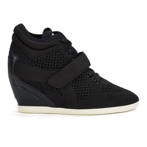 Ash Women's Bebop Knit Wedged Trainers - Black/Black