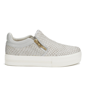 Ash Women's Jordy Puff/Nappa Wax Flatform Slip-On Trainers - Marble