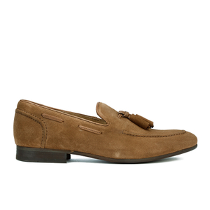 Hudson London Men's Pierre Suede Tassle Loafers - Tan