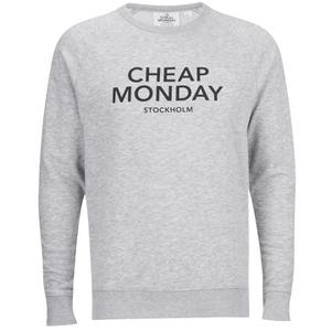 Cheap Monday Men's Rules Logo Sweatshirt - Grey Melange