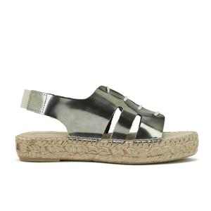 Prism Women's Palawan Tie Front Flatform Sandals - Rust Metal