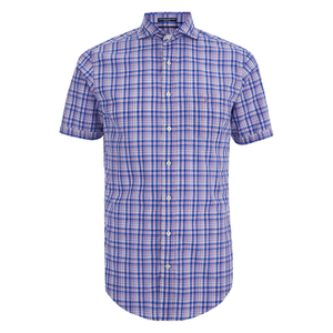 GANT Men's Albatross Cotton Linen Short Sleeve Shirt - Pale Pansy
