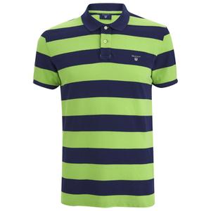 GANT Men's Barstripe Pique Rugger Polo Shirt - Jasmine Green