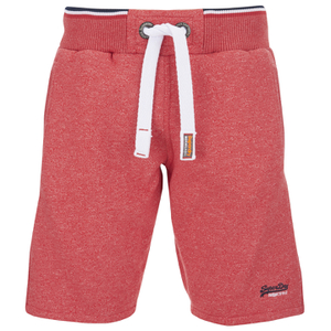 Superdry Men's Orange Label Tri Grit Sweat Shorts - Red Slub