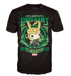 Marvel Thor Lokis Army Pop! T-Shirt - Black