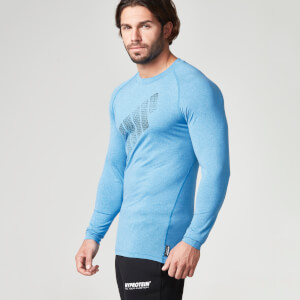 Myprotein Men's Mobility Long Sleeve Top – Azul