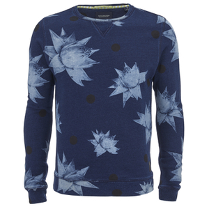 Scotch & Soda Men's Printed Sweatshirt - Blue