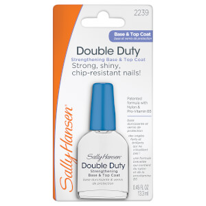 Capa base y esmalte de acabado Double Duty Base and Topcoat de Sally Hansen 13.3 ml