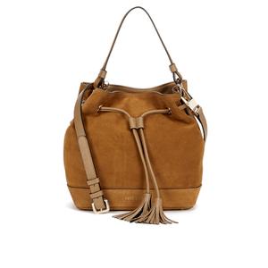Coccinelle Women's Jessie Suede Bucket Bag - Tan