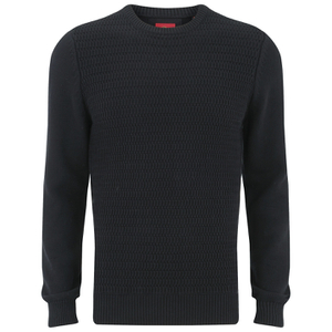 Luke Men's O'Byrne Computer Crew Neck Knitted Jumper - Black