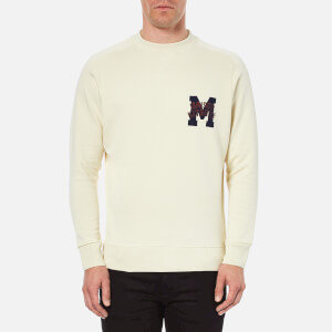 Maison Kitsuné Men's College Logo Sweatshirt - Ecru
