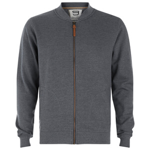 Smith & Jones Men's Brewer Zipped Sweatshirt - Charcoal Marl