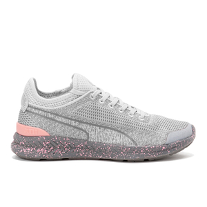 Puma Women's Ignite Sock Woven Low Top Trainers - Grey/Grey