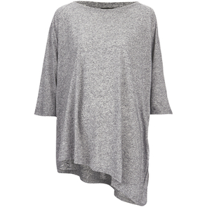 VILA Women's Tabat Oversize Top - Medium Grey Melange