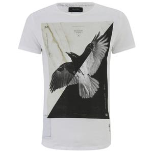 Religion Men's Bird Print Crew Neck T-Shirt - White
