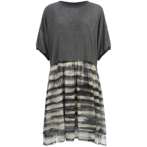 Vivenne Westwood Anglomania Women's Anarchy Stripe Georgette Baby T-Shirt Dress - Black