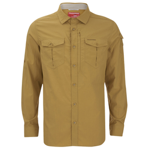 Craghoppers Men's Nosilife Adventure Long Sleeve Shirt - Light Olive